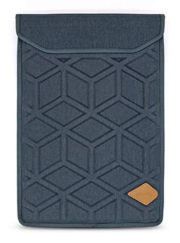 Lymmax Laptophülle für 39,6 cm (15,6 Zoll), stoßfest, vertikale Tasche mit Reißverschlusstasche, Wasserdichte Eva-Tragetasche mit gepolstertem Griff, Marineblau