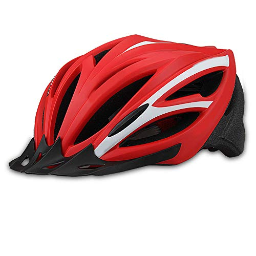 GLH Retro City Mountainbike Fahrradhelm Fahrradhelm Mütze mit Herren und Damen Ausrüstung Schutzhelm (Farbe : Rot)