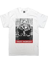 T-shirt Tupac 'Trust Nobody' rétro hip hop