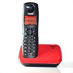 Gigaset A450 Black & Red cordless landline phone