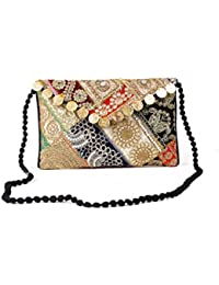 Homeart9 Women's Sling Bag (Embridered Handicraft Traditional Sling Bag,Multi-Coloured) - B077GY1G7N