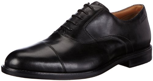 Clarks  Dorset Boss,  Scarpe stringate uomo, Nero (Schwarz (Black Leather)), 44
