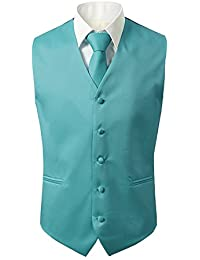 Suit Me Uomo Panciotto Gilet 5 Pulsanti di Nozze Vestiti della Maglia 3  Pezzi con Cravatta 4e3a9a91030