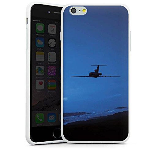 Apple iPhone X Silikon Hülle Case Schutzhülle Flugzeug fliegen Himmel Silikon Case weiß