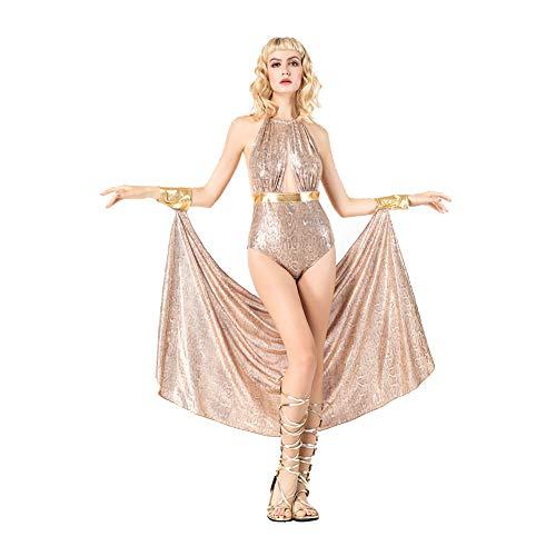OLKWG Halloween Griechische Göttin Kostüm Cosplay Göttin Kleid Erwachsene Karneval Kostüm