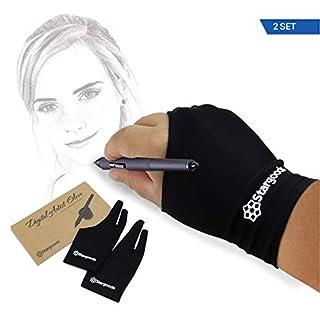 Stargoods Digital Artist Zeichenhandschuh für Grafiktablett - 2 Männer-Handschuhe