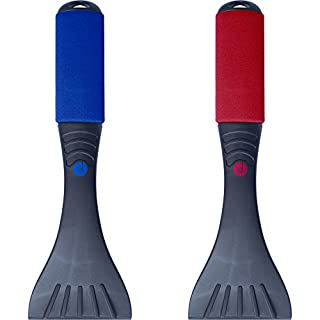 desired tools Premium Ice Scraper Set (2 Pack) Heavy-duty Frost & Snow Removal for Car Windshield and Window (Red & Blue)