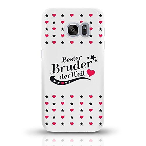 """JUNIWORDS Handyhüllen Slim Case für Samsung Galaxy S7 mit Schriftzug """"Bester Bruder der Welt"""" - ideales Weihnachtsgeschenk für den Bruder - Motiv 4 - Handyhülle, Handycase, Handyschale, Schutzhülle fü motiv 4"""