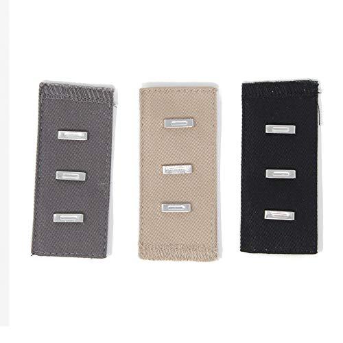 Gründl 3 Stück Bunderweiterung mit Haken für Hosen&Röcke beige grau schwarz 1363