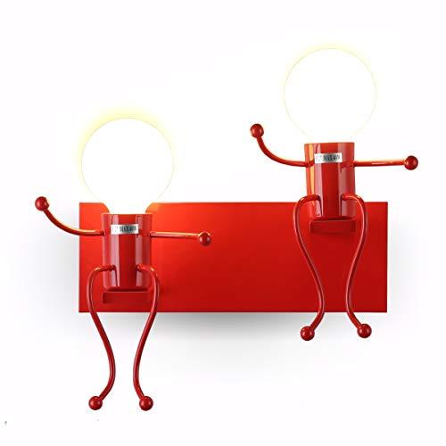 Lámpara para habitación infantil Apliques de pared vintage industrial E27 lámpara de metal lámpara de pared con casquillos para casa, restaurantes, cafetería, club Decoración, habitación infantil