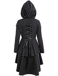 CharMma Manteau à Capuchon Asymmetrique Robe Femme Style Gothique 89cca980718