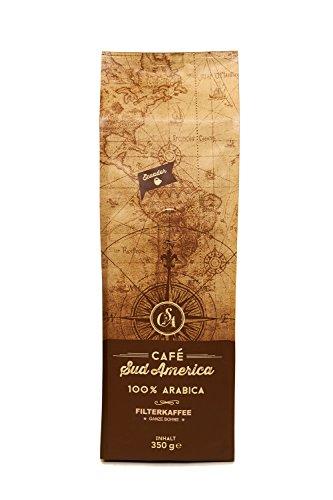 Cafe Sudamerica 350g, Premium Gourmet Kaffee Ecuador, 100% Arabica Filterkaffee geröstet und...