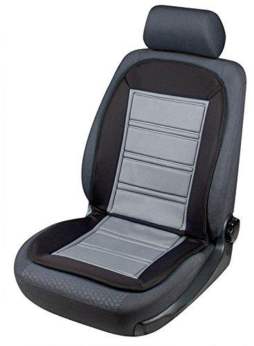 Beheizbarer Sitzaufleger Warm Up schwarz/grau mit Thermostat Auto Sitzheizung/Heizkissen