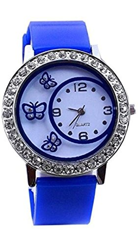 Watches for Womens ( MS ENTERPRISE White Dial Round Analogue Watch for girls - MS-D024-BL-8 -A)