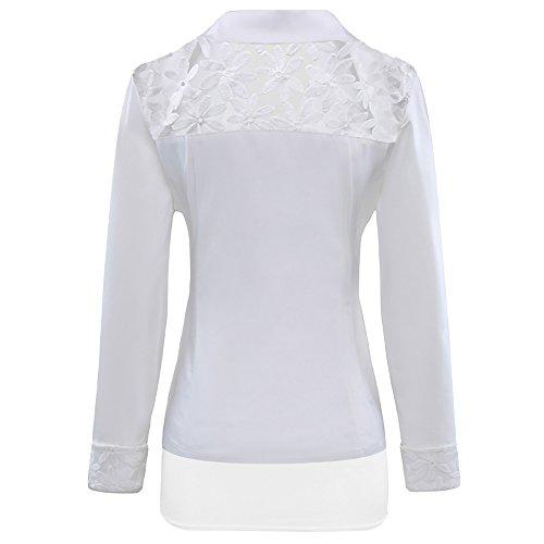 SBelle - Veste de tailleur - Manches Longues - Femme Blanc