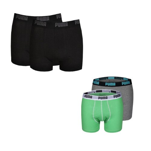 Puma Men Boxershort Basic Boxer NOS/Fashion 2er, 4er, 6er Pack 2x schwarz 2x blau