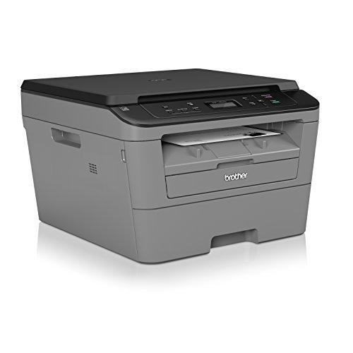 Brother DCP L2500D   Impresora multifunción láser monocromo (impresión automática a doble cara), conectividad USB 2.0 Hi Speed, Negro/Gris [España]