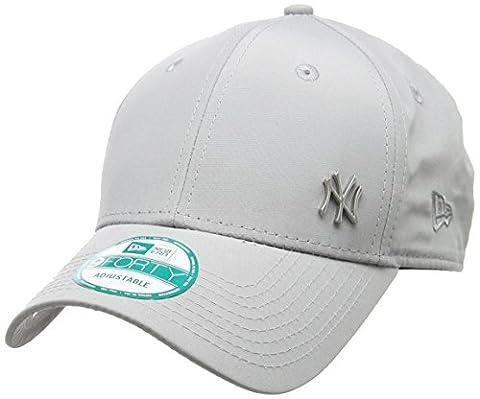 New Era Cap MLB Flawless Logo Basic, Grey, OSFA, 11198849