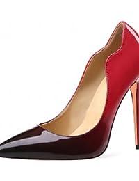 ZQ Zapatos de mujer-Tac¨®n Cu?a-Tacones-Tacones-Oficina y Trabajo / Vestido / Casual-Microfibra-Negro / Amarillo / Beige , beige-us6.5-7 / eu37 / uk4.5-5 / cn37 , beige-us6.5-7 / eu37 / uk4.5-5 / cn37