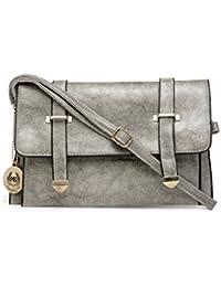 Moedbuille Grey Stylish Polyurethane (PU) Sling Bag