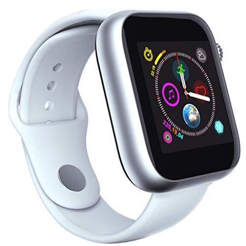 VRTUR Sportuhr (Bluetooth3.0) Smartwatch Bluetooth-Dialer SIM-Karte Einzelkarte (kleine Karte) verlorene Funktion, Schrittzähler, Musik, Videowiedergabe Armbanduhr Weiß