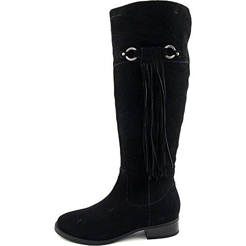 INC International Concepts Fayer Rund Wildleder Mode-Knie hoch Stiefel Black