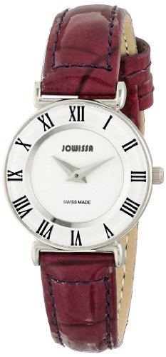Jowissa Roma Colori Women's Quartz Watch with White Dial Analogue Display and Purple Leather Strap J2.012.S