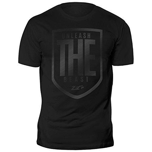 ZEC+ UNLEASH THE BEAST T-SHIRT BLACK on BLACK M (Shirt Beast Black)