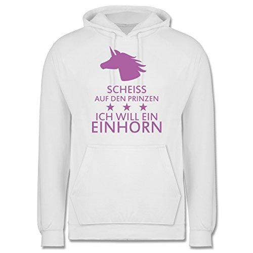 Nerds & Geeks - Einhorn - Scheiss auf den Prinzen ich will ein Einhorn - Männer Premium Kapuzenpullover / Hoodie Weiß