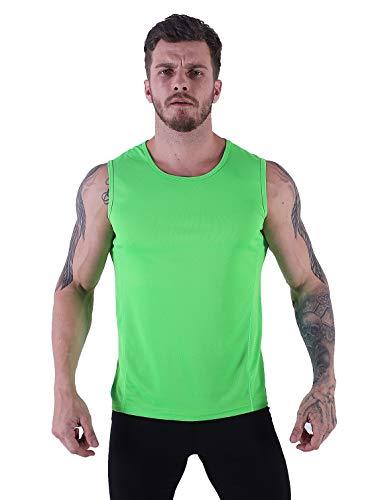 VICROAD-UK Herren Tank Top Schnell Trocknend Sport Ärmelloses Shirt Fitness Gym Training Weste -