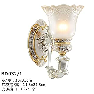 Lampshade Lighting Chandelier Wall Lamp European Wall Lamp Living Room Simple European Bedroom Bedside Wall Lamp Stairs Aisle Lights Tv Background Wall Lighting Lamps, Bd032