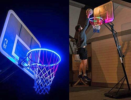 Holidayssummer Beleuchteter Basketballkorb, wasserfest, LED-Basketballkorb, beleuchtet Rand, passt für Rückbrett, Zubehör, Licht für Park, Hof, Schule und Ourtdoor