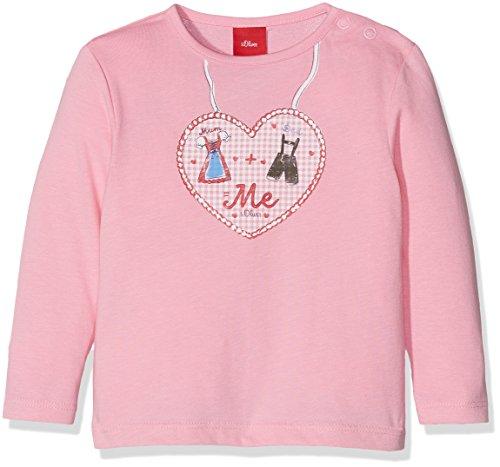 s.Oliver Baby-Mädchen Langarmshirt 59.707.31.6950 Rosa (Purple/Pink 4400), 74