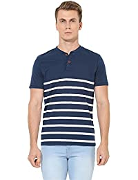 Red Tape Men's Striped Regular Fit T-Shirt