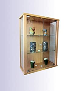 h ngevitrine sammlervitrine vitrine h ngeschrank buche k che haushalt. Black Bedroom Furniture Sets. Home Design Ideas