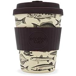 Ecoffee Cup Toolondo Fishman - Taza de café de bambú Reutilizable (340 ML)