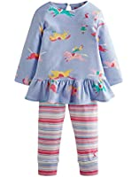 Baby Joules Baby Girls Baby Tasha Outfit Blue Pony Club