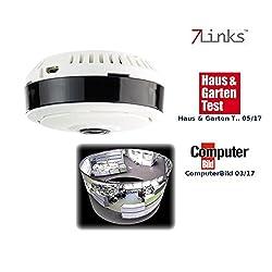 7links Panorama IP Kamera: IP-Panorama-Überwachungskamera für 360°-Rundumsicht & Nachtsicht, 960p (Überwachungskamera 360 Grad)