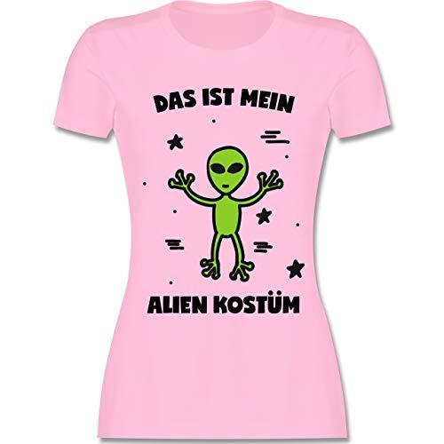 Karneval & Fasching - Das ist Mein Alien Kostüm - XL - Rosa - L191 - Damen Tshirt und Frauen T-Shirt (Kostüm Alien Frauen)