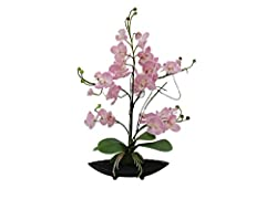 Idea Regalo - Set 2 x Composizione floreale con orchidea finta IVIE, rosa, 5 rami, 50cm - resistente alle intemperie - 2 pezzi di Orchidea farfalla / Pianta artificiale- artplants
