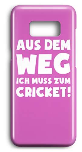 shirt-o-magic Handyhülle Kricket: Muss zum Cricket! - Case -Samsung S8-Pink Samsung Cricket