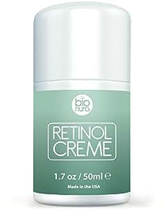 Bionura Retinol Feuchtigkeitscreme Creme mit 2,5% Retinol, 15% Vitamin C & 5% Hyaluronsäure - Der effektivste Natürliche Anti Aging & Anti Falten Retinol Feuchtigkeitsbehandlung ohne die irritierenden Nebenwirkungen. 50 ml