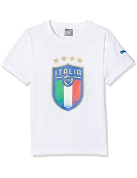 Puma FIGC Italia Badge tee Jr Camiseta, Niños (Blanco), 152