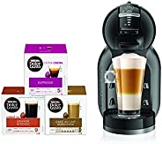 Nescafe Dolce Gusto Mini Me Coffee Machine (with 3 Capsule Boxes), Black, DG0132180903 B+CAPS BUNDLE, mini me