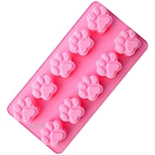 qimh 10vasos gato/perro Pinza para silicona muffin Mold Muffin búhos forma Muffin forma pastel postre Cup Cake Pudding Jelly Mini Cupcake Mold Set Moldes de Pastel Cupcake Mold molde para hornear