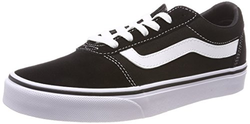 Vans Ward Suede/Canvas, Zapatillas Mujer, Negro ((Suede/Canvas) Black/White Iju), 36 EU