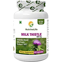 NutrineLife Milk Thistle 500 mg Dietary Supplement Capsules - 90 Capsules