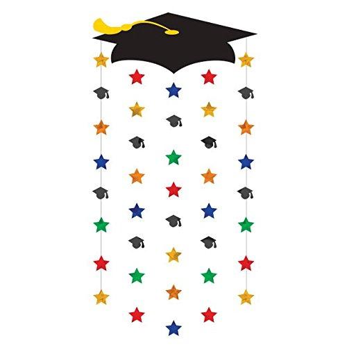 amscan Graduierung Kappen Tür Dekorationen (Bau-geburtstags-ballons)