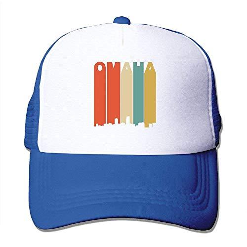 Voxpkrs Vintage 70er Jahre Stil Omaha Nebraska Skyline Adjustbale Baseballmützen Tracker Cap One Size U8I001671 -