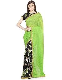 Shaily Retails Women's Green Georgette Half And Half Saree (URVSHI3052SSSR03T_Green)